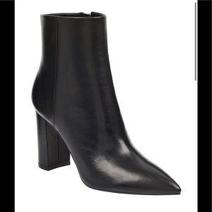 Marc Fisher Black Ulani Leather Booties NWT